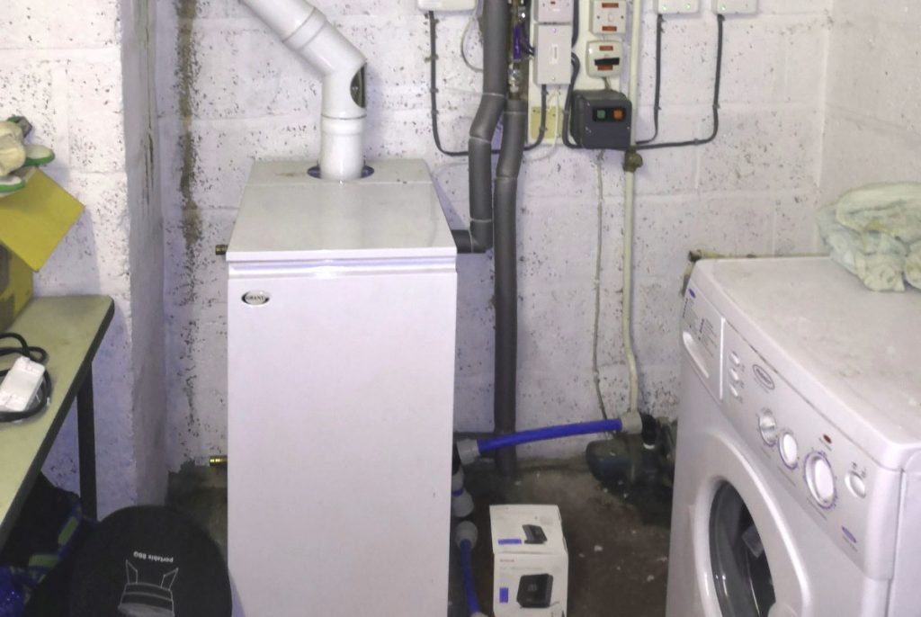 LS Plumbing Oil Boiler Installation
