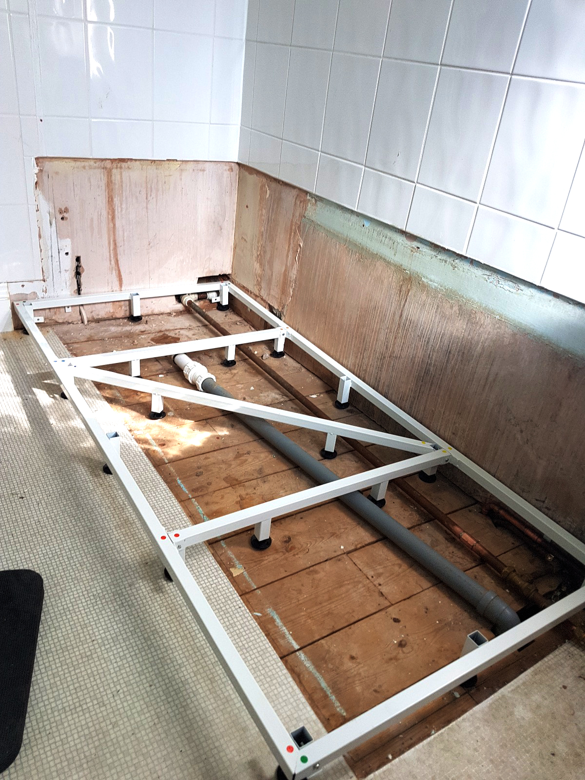 ls plumbing new shower frame
